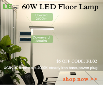 $5 off 60w led floor lamp with code FLO2 at lightingever.com