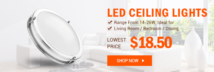 LED Ceiling Lights from $18.50 at lightingever.com