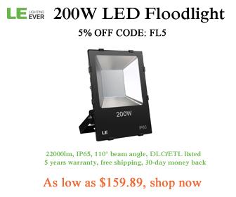 5% off 200w floodlight with code FL5 at lightingever.com