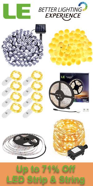 Save up to 71% off for Hot Sale LED Strip & String at lightingever.com