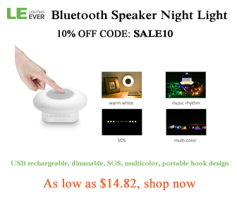 10% off bluetooth speaker night light with code SALE10 at lightingever.com