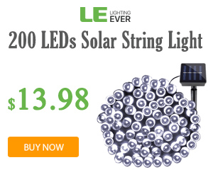 $13.98 Solar String Light at lightingever.com
