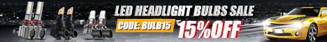 SAVE EXTRA 15% FOR LED HEADLIGHT BULBS SALE