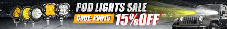 SAVE 15% FOR LED PODS LIGHT SALE