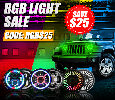 SAVE EXTRA $25 FOR RGB LIGHT SALE