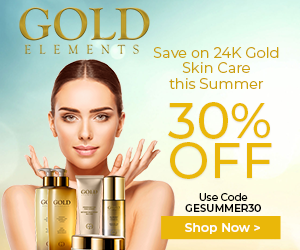 Gold Elements 300x250 Summer banner