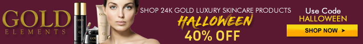 Gold Elements Halloween 728x90 banner