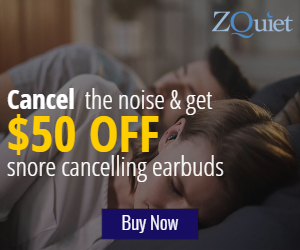 QuietOn Snore Cancelling Earbuds at ZQuiet.com