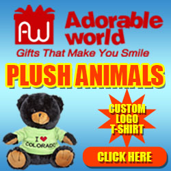 Adorable World Custom Logo T-Shirt Plush