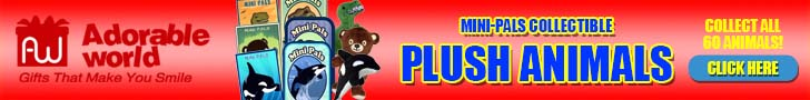 Adorable World Mini-Pals Plush Animals