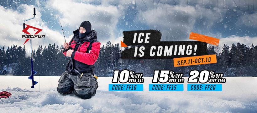 15% OFF Piscifun Ice Fishing Season Deal