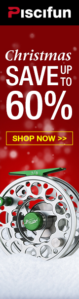 Save up to 60%, Piscifun X-MAS SALE, silky smooth fly fishing reels