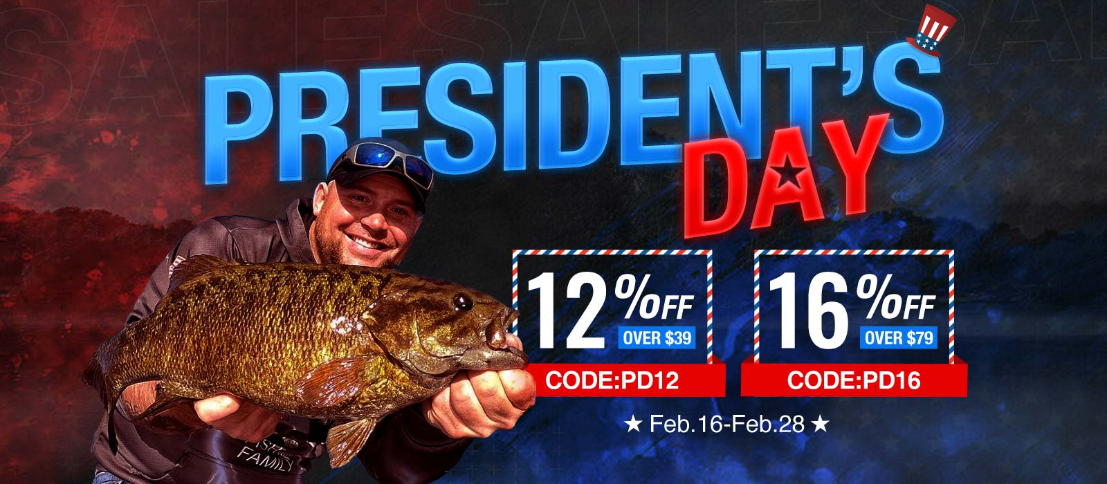 16% OFF on Piscifun President's Day Deal