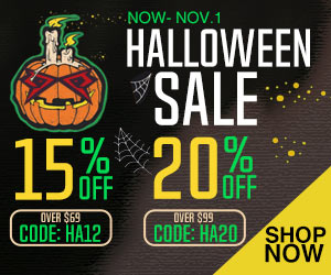Up to 20% off on Piscifun Halloween Sale