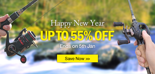 Save up to 55%, New Year SALE,  Piscifun Fishing reel and rods