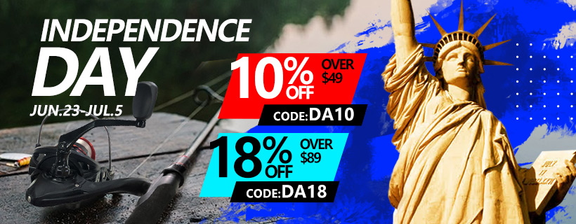 Up to 18% off on Piscifun Independence Day deal