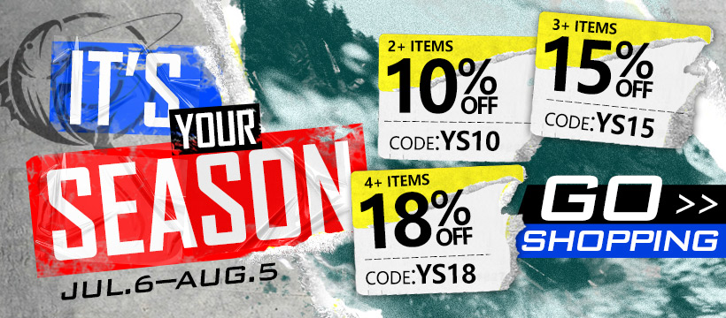 15% off Over 3 Terms on Piscifun Fishing Gear