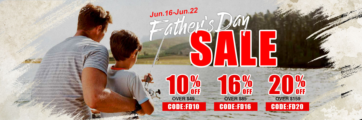 10% off over $49 on Piscifun Father's Day Deal