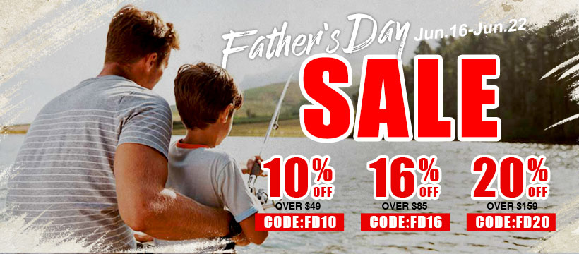 16% off over $85 on Piscifun Father's Day Deal