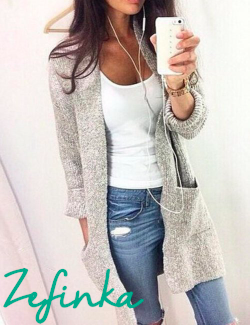 Long Sleeve Loose Knitting Cardigan