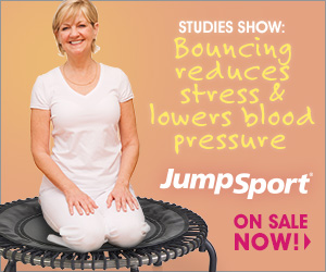 Studies Show: Bouncing reduces stress & lowers blood pressure