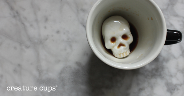 Spooky skull mug by Creature Cups