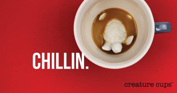 Creature Cups' chill turtle mug