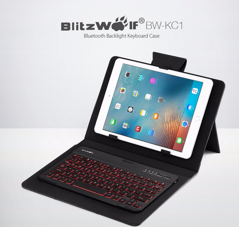 BlitzWolf® keyboard leather case    15%OFF