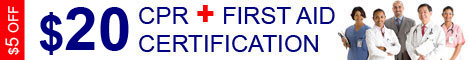 $5 OFF CPR + FIRST AID TRAINING