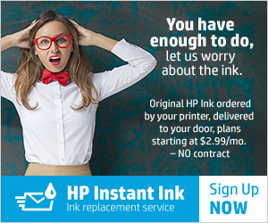 Try HP's new program: save on ink AND never run out again!