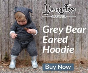 Grey Bear Eared Hoodie