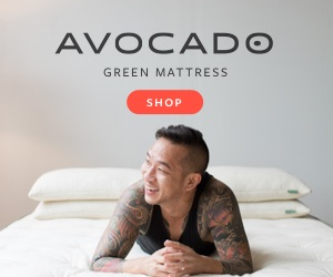 man laying on a natural green mattress