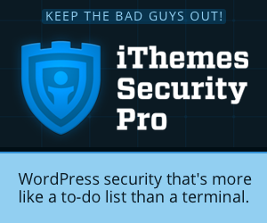 ithemes pro security  for WordPress
