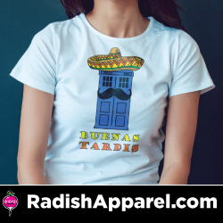 Funny, nerdy, pop culture shirts from Radish Apparel.