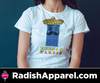 Funny, nerdy, pop culture shirt from Radish Apparel.