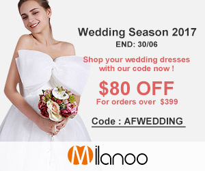 $80OFF for orders OVER $399 Code: AFWEDDING