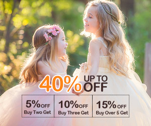 Flower Girl Dresses -40% off & More buy,more save!