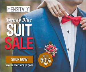 Trendy Blue Suit Sale