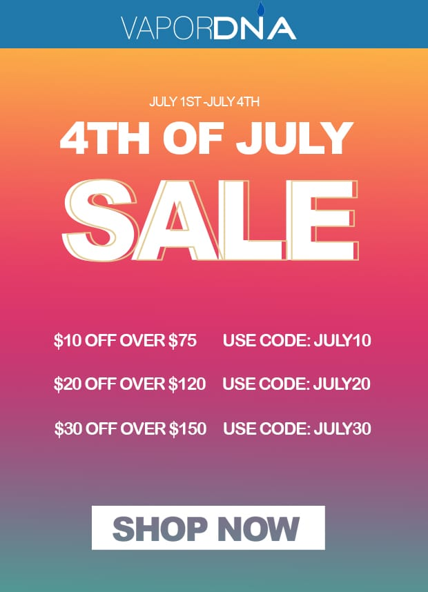 4th of july sale from VaporDNA com - China secret shopping