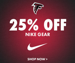 IT'S BACK! Get Up To 25% Off Falcons Nike & Under Armour Gear!