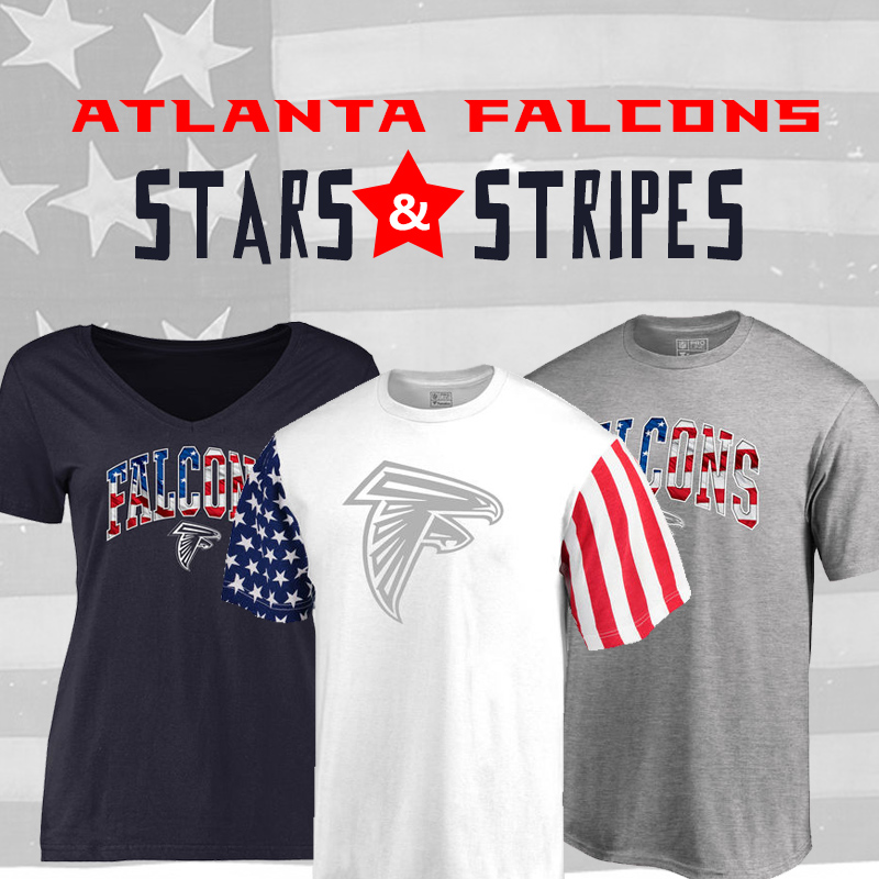 Salute The Flag With Falcons Stars & Stripes Gear!