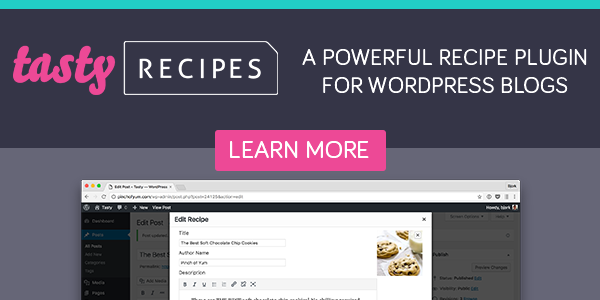 tasty recipes plugin banner
