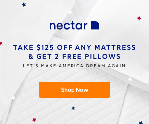 Nectar Mattress - Take $125 Off Any Mattress & Get 2 Free Pillows