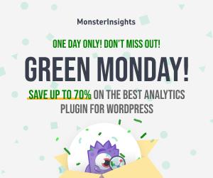 MonsterInsights, Green Monday, WordPress Plugin Sales