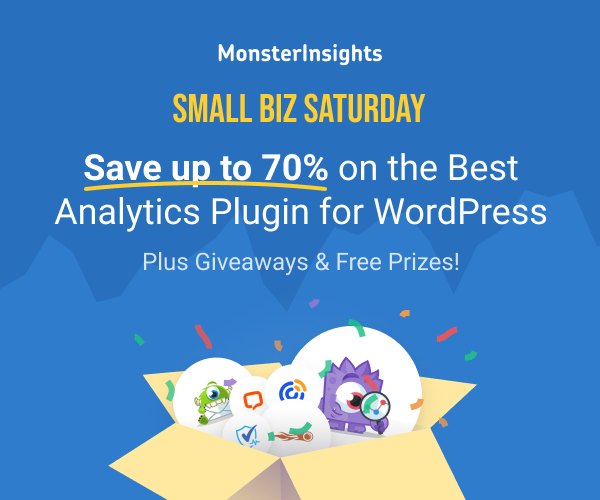 MonsterInsights, Small Business Saturday, WordPress Plugin Sales