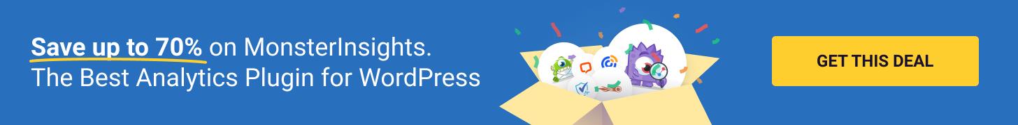 MonsterInsights, Small Business Saturday, WordPress Plugin Sales