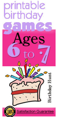Birthday party games age 6-7