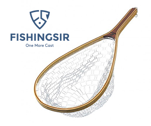 Fly Fishing Net Soft Rubber Mesh Landing Net