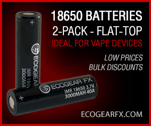 18650 Batteries Flat-Top