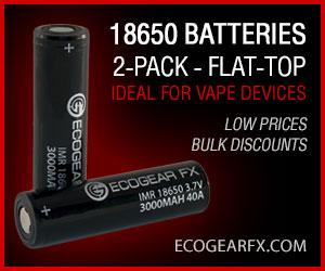 18650 Batteries Flat-Top